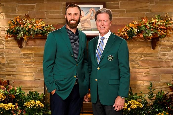 オーガスタGCのチェアマンと(提供:Augusta National Golf Club) 2021年 マスターズ 4日目 ダスティン・ジョンソン フレッド・リドリー