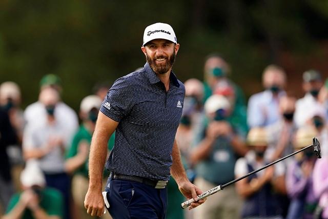 2021年 マスターズ 4日目 ダスティン・ジョンソン 勝利を手にしての笑顔(提供:Augusta National Golf Club)