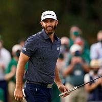 勝利を手にしての笑顔(提供:Augusta National Golf Club) 2021年 マスターズ 4日目 ダスティン・ジョンソン