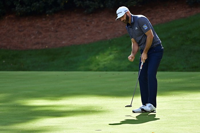 アーメンコーナーを無傷で切り抜けた後、13番で3連続バーディの1つ目を決めた(提供:Augusta National Golf Club) 2021年 マスターズ 4日目 ダスティン・ジョンソン