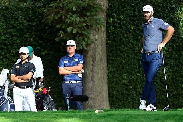 2021年 マスターズ 4日目 アブラム・アンセル イム・ソンジェ ダスティン・ジョンソン DJには及ばなかったものの…イム・ソンジェ(中央)はアジア勢歴代最高となる堂々の2位(提供:Augusta National Golf Club))