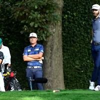 DJには及ばなかったものの…イム・ソンジェ(中央)はアジア勢歴代最高となる堂々の2位(提供:Augusta National Golf Club)) 2021年 マスターズ 4日目 アブラム・アンセル イム・ソンジェ ダスティン・ジョンソン