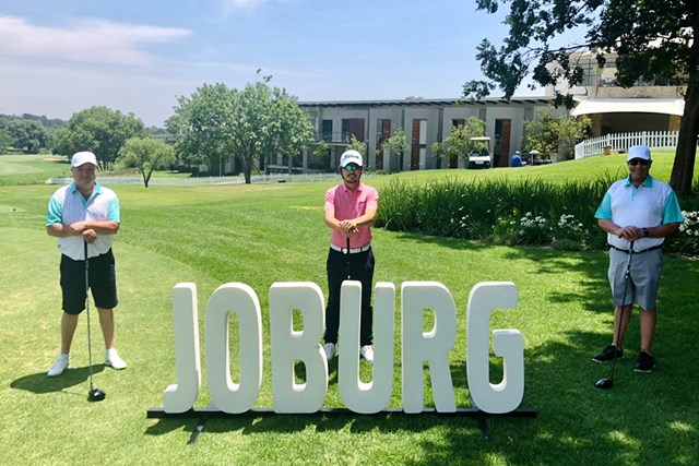 2020年 ヨハネスブルグオープン 事前 川村昌弘 ソーシャルディスタンスでプロアマ戦。今週は南アフリカで試合です