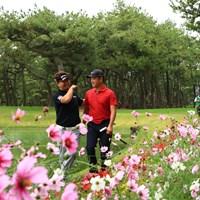 仲良い~ 2020年 ダンロップフェニックストーナメント 2日目 時松隆光と塚田陽亮