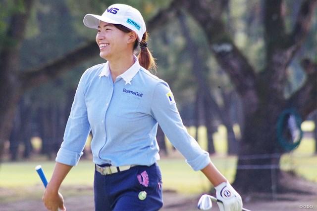 2020年 LPGAツアーチャンピオンシップリコーカップ 初日 渋野日向子 渋野日向子は体調の万全をアピールした