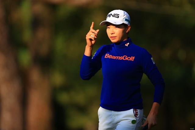 2020年 LPGAツアーチャンピオンシップリコーカップ 初日 渋野日向子 渋野日向子は4アンダーと好発進を切った