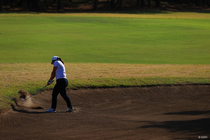 Hole13  par5  495yard  サードショット 2020年 LPGAツアーチャンピオンシップリコーカップ 初日 浅井咲希