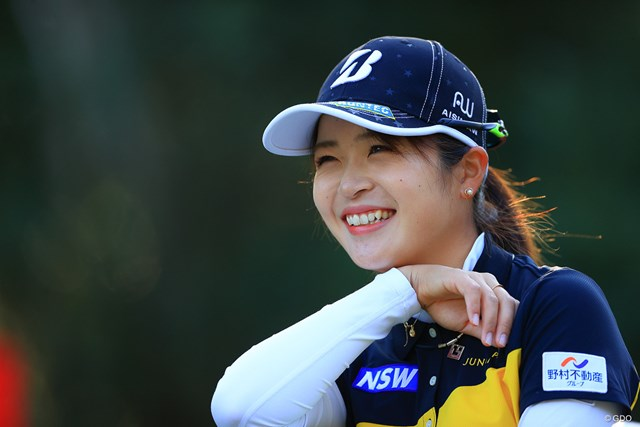 2020年 LPGAツアーチャンピオンシップリコーカップ 初日 三ヶ島かな 笑顔の先に