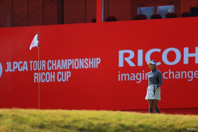 2020年 LPGAツアーチャンピオンシップリコーカップ 初日 原英莉花 みなさん海外みたいでしょこの雰囲気。