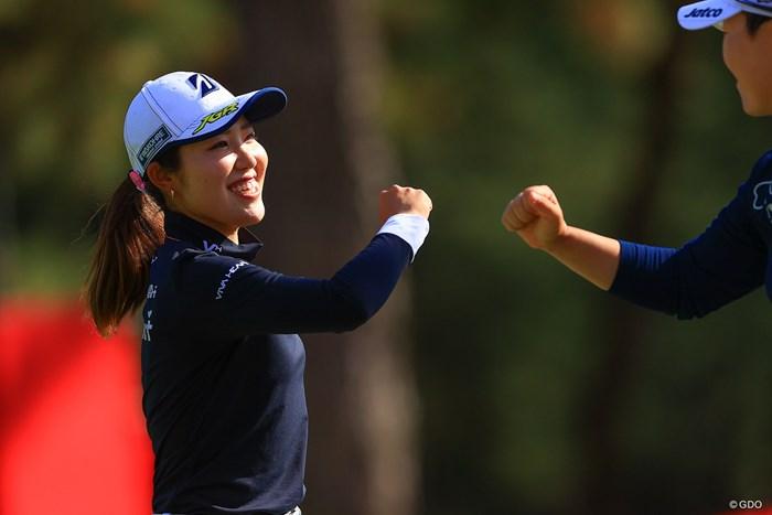 「一打一打集中して楽しく回れれば」と後半戦へと意気込んだ 2020年 LPGAツアーチャンピオンシップリコーカップ 2日目 古江彩佳