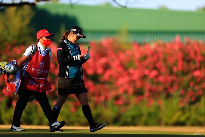 花の30代一緒に楽しみましょうや! 2020年 LPGAツアーチャンピオンシップリコーカップ 2日目 藤田さいき