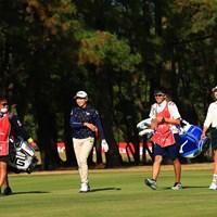 同級生同士のラウンドは和気あいあいと 2020年 LPGAツアーチャンピオンシップリコーカップ 2日目 渋野日向子 原英莉花