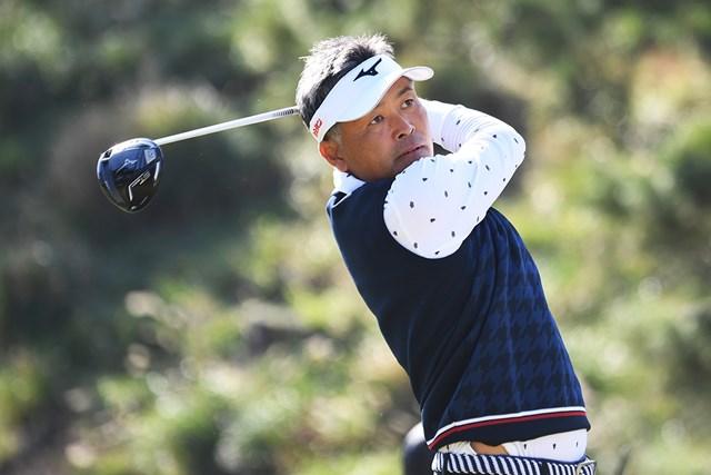 2020年 いわさき白露シニアゴルフトーナメント 2日目 手嶋多一 寒さに苦しみながらも首位を守った手嶋多一(提供:日本プロゴルフ協会)