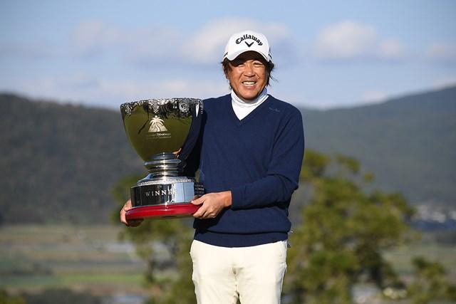 2020年 いわさき白露シニアゴルフトーナメント 最終日 溝口英二 プレーオフで競り勝った溝口英二(提供:日本プロゴルフ協会)