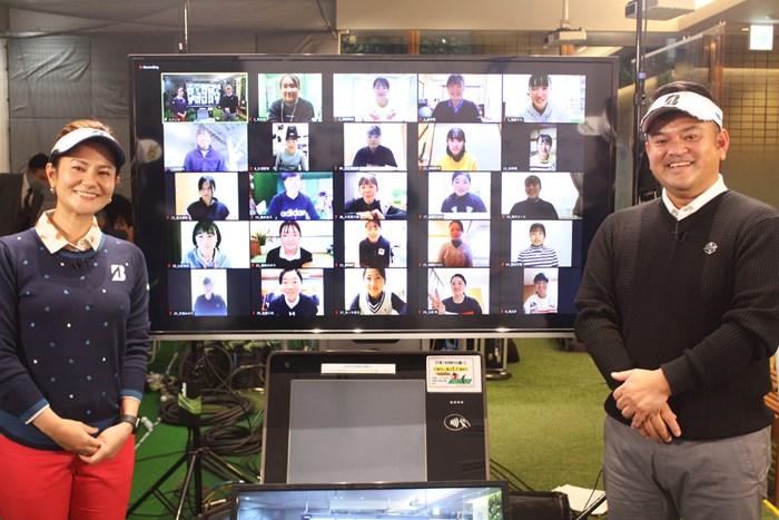 今年はオンライン開催となった「宮里藍インビテーショナル」(提供:エム・プロジェクト) 2020年 宮里藍と兄の宮里聖志
