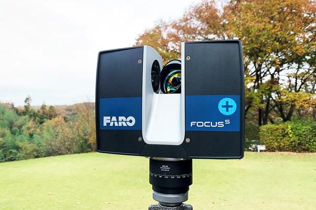 5G×IoTゴルフソリューション展示会 ゴルフコースをデジタル化する3Dスキャナ