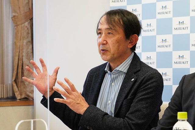 5G×IoTゴルフソリューション展示会 展望を語るミライトの中山俊樹社長