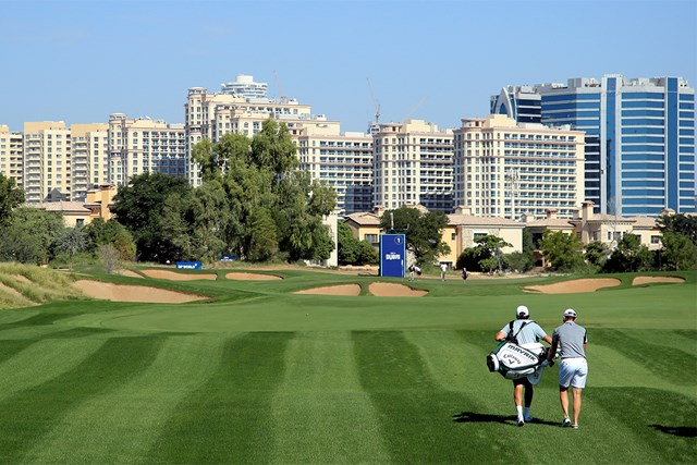 2020年 ゴルフ in ドバイ選手権 事前 ダニー・ウィレット ジュメイラ・ゴルフエステーツで開催される「ゴルフ in ドバイ選手権」に向けテ練習中のダニー・ウィレット(Andrew Redington Getty Images)