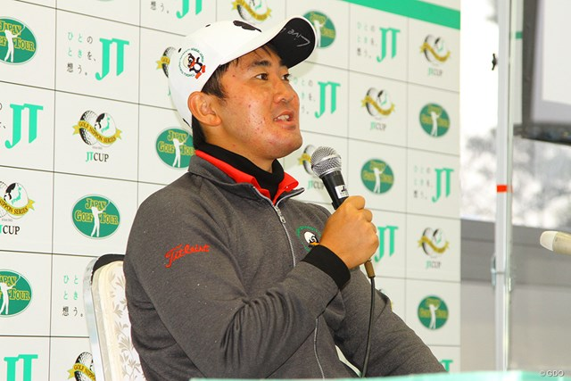 2020年 ゴルフ日本シリーズJTカップ 事前 金谷拓実 母校・東北福祉大マークをあしらったウェアで快進撃を続ける金谷拓実