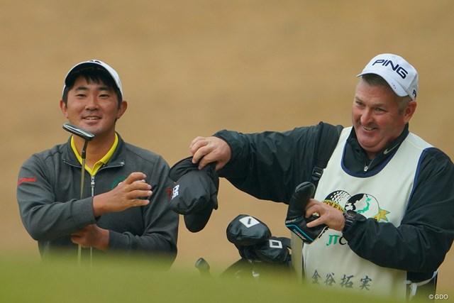 2020年 ゴルフ日本シリーズJTカップ 初日 金谷拓実 ほんとナイスコンビ。