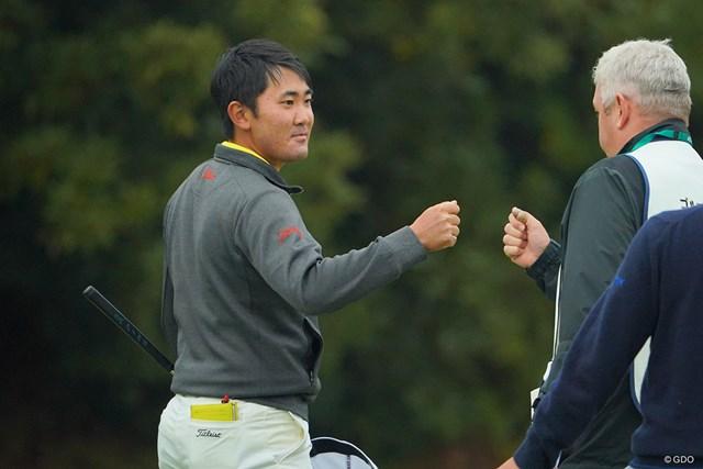 2020年 ゴルフ日本シリーズJTカップ 初日 金谷拓実 金谷拓実は難関18番をバーディ締め