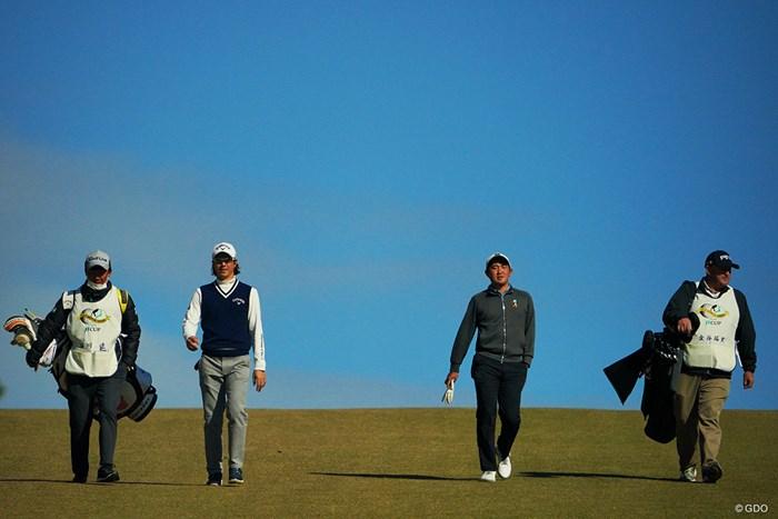 同組でラウンドした2人。 2020年 ゴルフ日本シリーズJTカップ 2日目 石川遼 金谷拓実