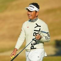 3連覇のときよりシワが増えたと自虐節の藤田寛之だが、円熟味のある笑顔もいい 2020年 ゴルフ日本シリーズJTカップ 2日目 藤田寛之