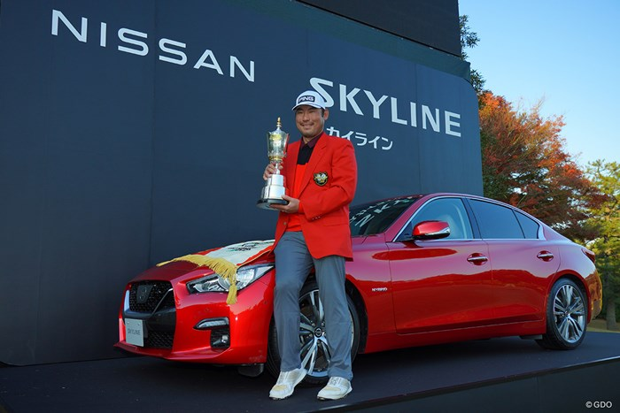 赤いスポーツカーが似合いますな。 2020年 ゴルフ日本シリーズJTカップ 最終日 チャン・キム