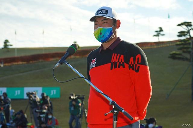 2020年 ゴルフ日本シリーズJTカップ 最終日 チャン・キム 可愛いマスク。