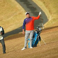 6番ティショットは右の崖下に。初優勝ならず。 2020年 ゴルフ日本シリーズJTカップ 最終日 小斉平優和