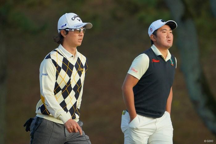 3日間、同組でラウンドした2人。 2020年 ゴルフ日本シリーズJTカップ 最終日 石川遼 金谷拓実
