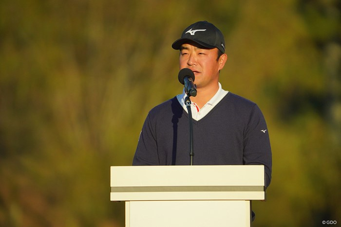 時松会長、ご挨拶。 2020年 ゴルフ日本シリーズJTカップ 最終日 時松隆光