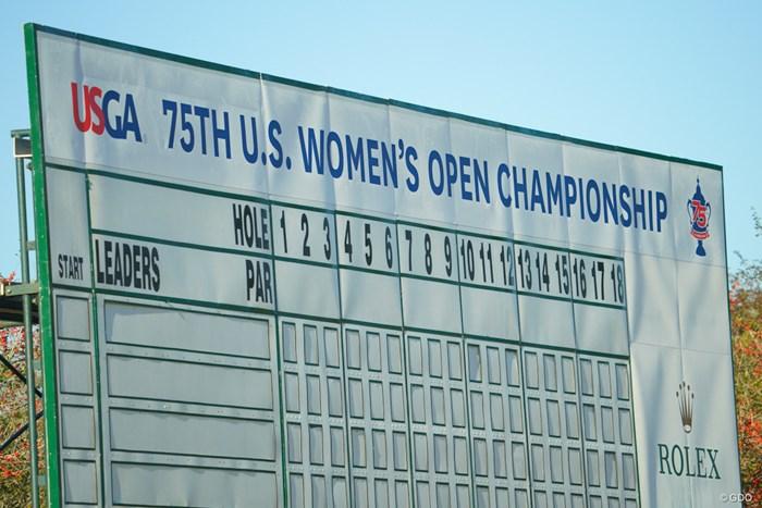 最後に一番上に載る名前は? 2020年 全米女子オープン 初日 リーダーボード