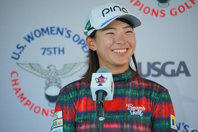 2020年 全米女子オープン  初日 渋野日向子 渋野日向子は笑顔で第1ラウンドを振り返った