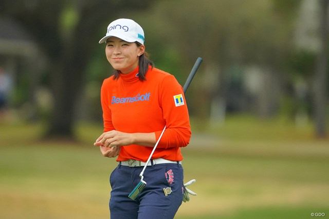 2020年 全米女子オープン 2日目 渋野日向子 今週の全米女子オープンあるある。近くをラウンドする日本人選手と数多くすれ違い、笑顔で挨拶