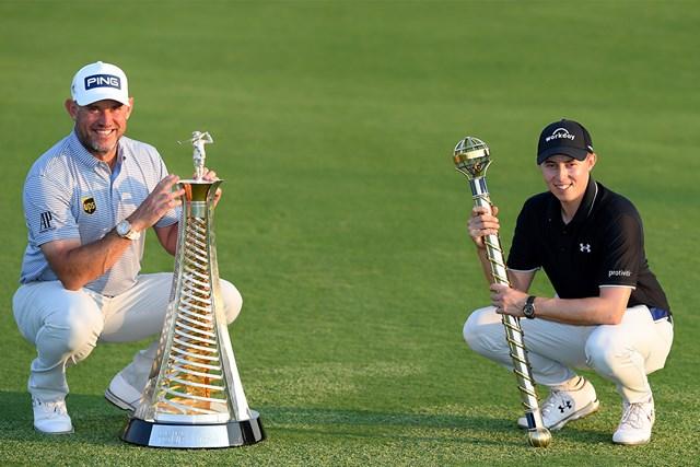 2020年 DPワールド ツアー選手権 ドバイ  最終日 リー・ウェストウッド マシュー・フィッツパトリック 最終戦を制したフィッツパトリック(右)、年間王者はウェストウッドが戴冠(Ross Kinnaird Getty Images)