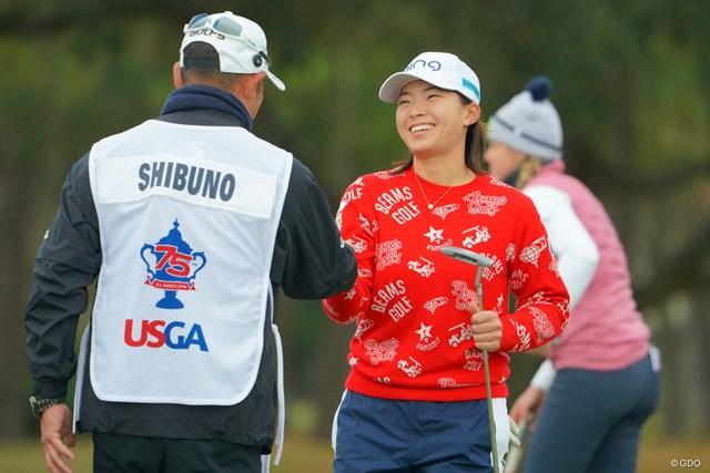 2020年 全米女子オープン 最終日 渋野日向子 渋野日向子はメジャー2勝目を逃した。最終18番をバーディで締め、笑顔を見せた