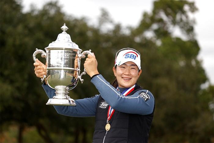 逆転で初出場のメジャーを制したキム・アリム(Robert Beck/USGA) 2020年 全米女子オープン  最終日 キム・アリム