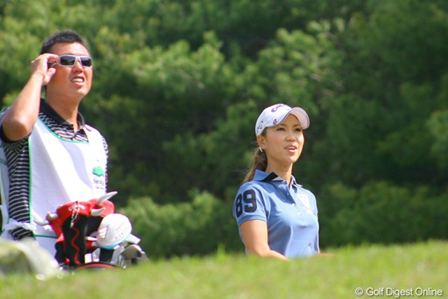国内ツアーは今季5試合目となる上田桃子。テーマは「思い切り良く!」