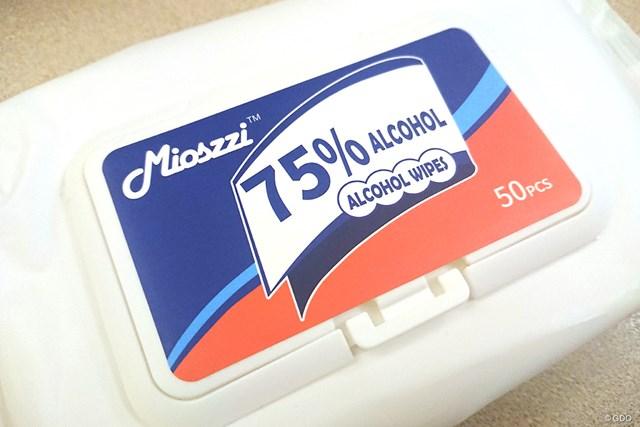 2020年 全米女子オープン 除菌シート 「メディアキット」に入っていた除菌シート。これめちゃくちゃ使いやすい!