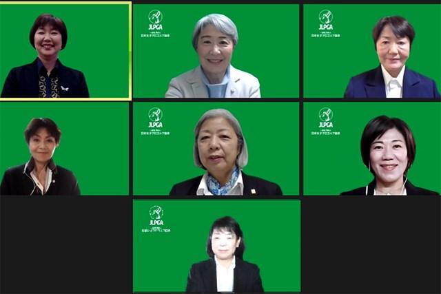 2020年 理事選 小林浩美会長 小林浩美会長(左上)ら7人の理事候補が選出(提供:JLPGA)
