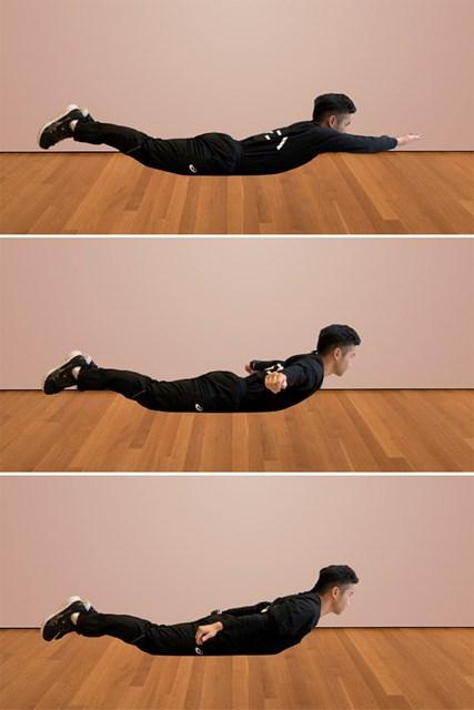 正月太りを予防するトレーニング リバーススノーエンジェル(提供:ケアくる)