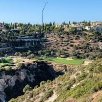 今年初めて訪れたキプロスのゴルフ場。優勝争いに一歩届かなかった 川村昌弘
