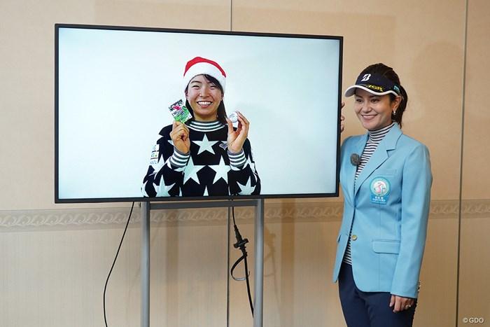 渋野日向子(左)を宮里藍さんが絶賛 2020年 宮里藍