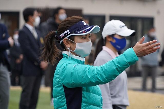 宮里藍 女子中高生ゴルファーに指導した宮里藍さん