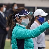 女子中高生ゴルファーに指導した宮里藍さん 宮里藍