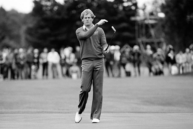 ジョニー・ミラー 往年の名選手、ジョニー・ミラー。日本では1974年の「第1回ダンロップフェニックストーナメント」覇者として名を刻んでいる※写真は1981年「ライダーカップ」(Peter Dazeley/Getty Images)