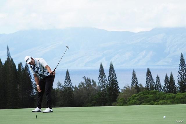 セントリートーナメントofチャンピオンズ 事前 松山英樹 コースからはお隣のモロカイ島も見通せる