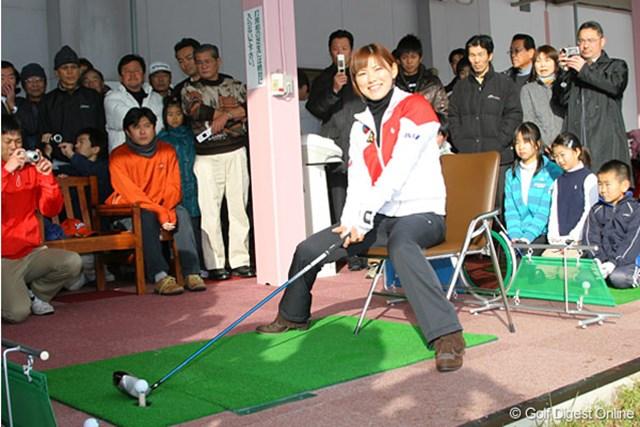 2021年 横峯さくら 横峯さくらが山形県でジュニア育成に携わった(写真は2009年)
