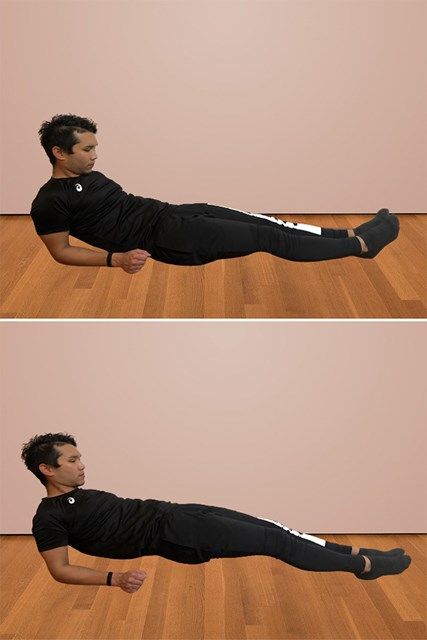 体幹を鍛える自宅トレーニング リバースプランク(提供:ケアくる)